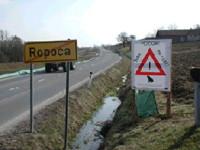 Slika 1. Varovalna ograja za dvoživke ob Ledavskem jezeru na Goričkem